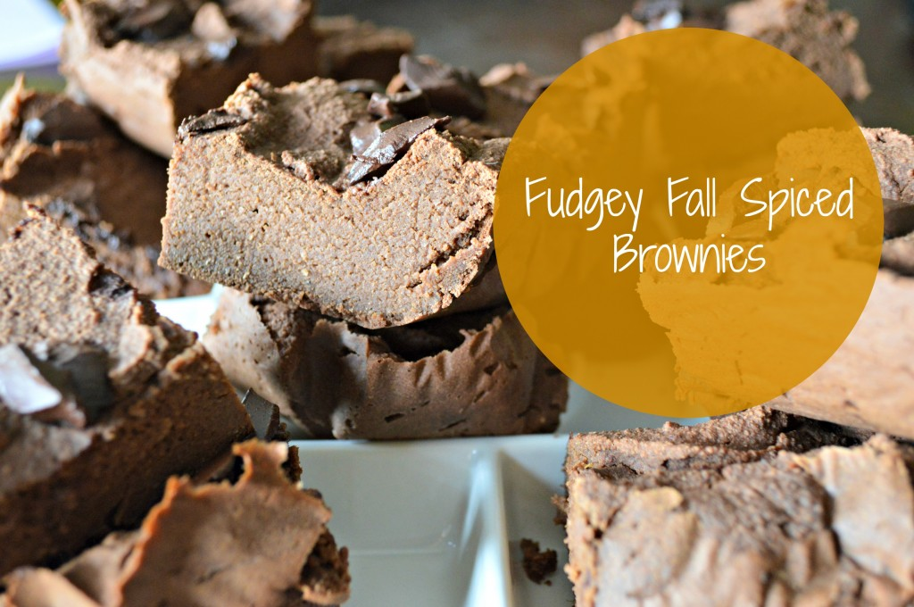 fall spiced brownies