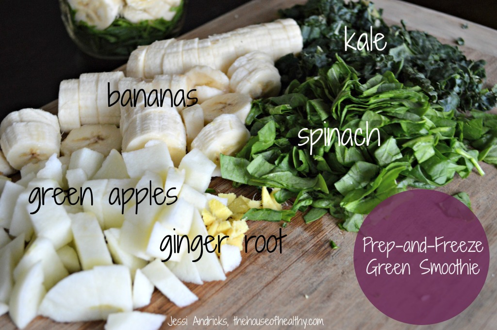 prepped green smoothie