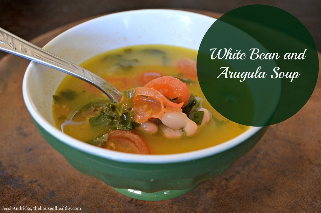 white bean and arugula