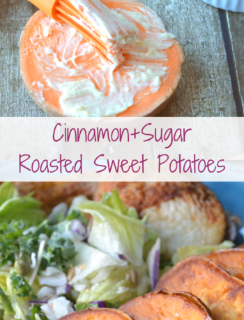 Cinnamon+Sugar Roasted Sweet Potatoes