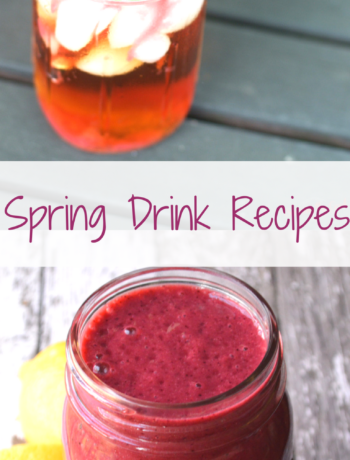 Spring Drink Recipes Banner
